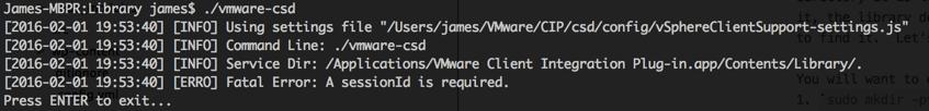 vmware-csd-test